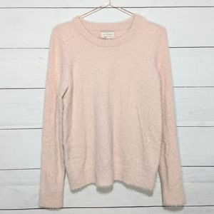 NWT Lucky Brand Pink Eyelash Crew Neck Sweater
